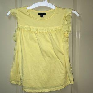 Girls Gap flutter sleeve T-shirt size 10